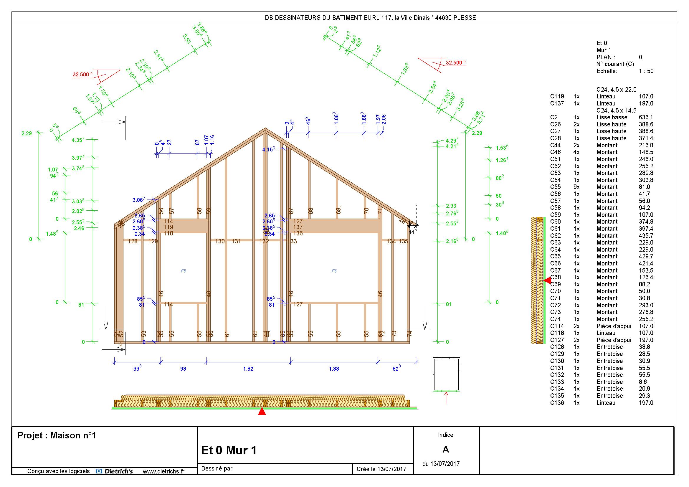 Plans De Panneaux Bois Artkitech Dessinateurs Du Batiment