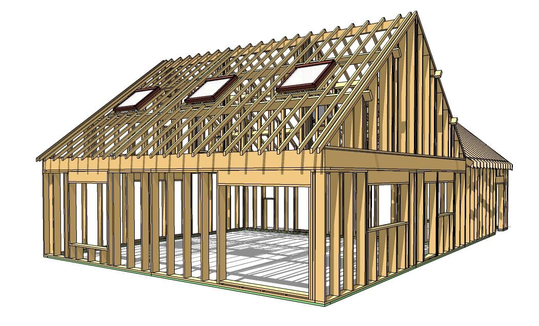 Etude de structure bois db dessinateurs du bâtiment